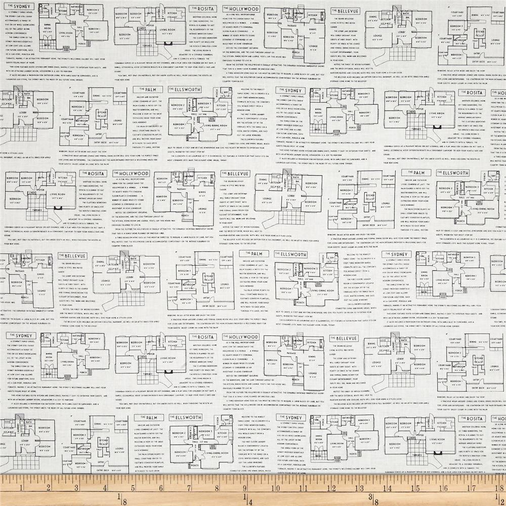 Fine Print Floor Plans Black/White