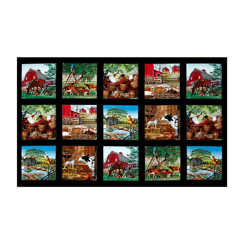 Farm Life Blocks 36 In. Panel Black