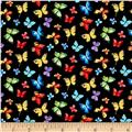 Michael Miller Garden Party Butterfly Free Black