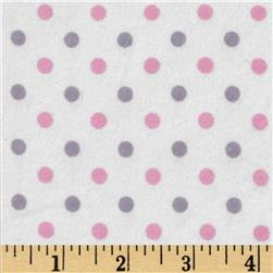 Flannelland Simply Dots White/Pink
