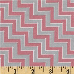 Sweet Harmony Chevron Grey/Pink