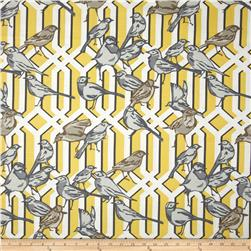 Dwell Studio Aviary Trellis Slub Citrine Fabric