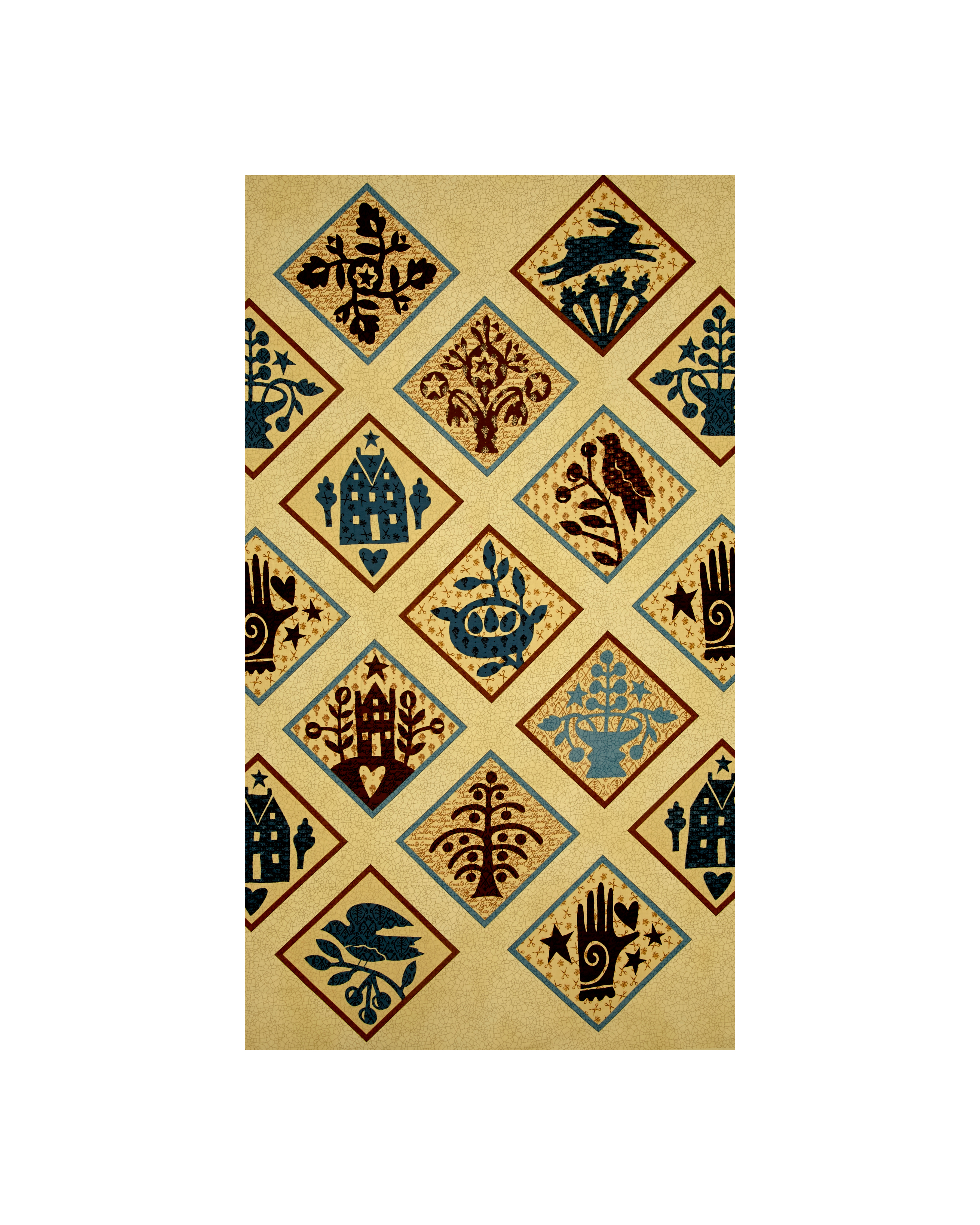 Moda Piecemakers Patches Ivory Fabric by Moda in USA
