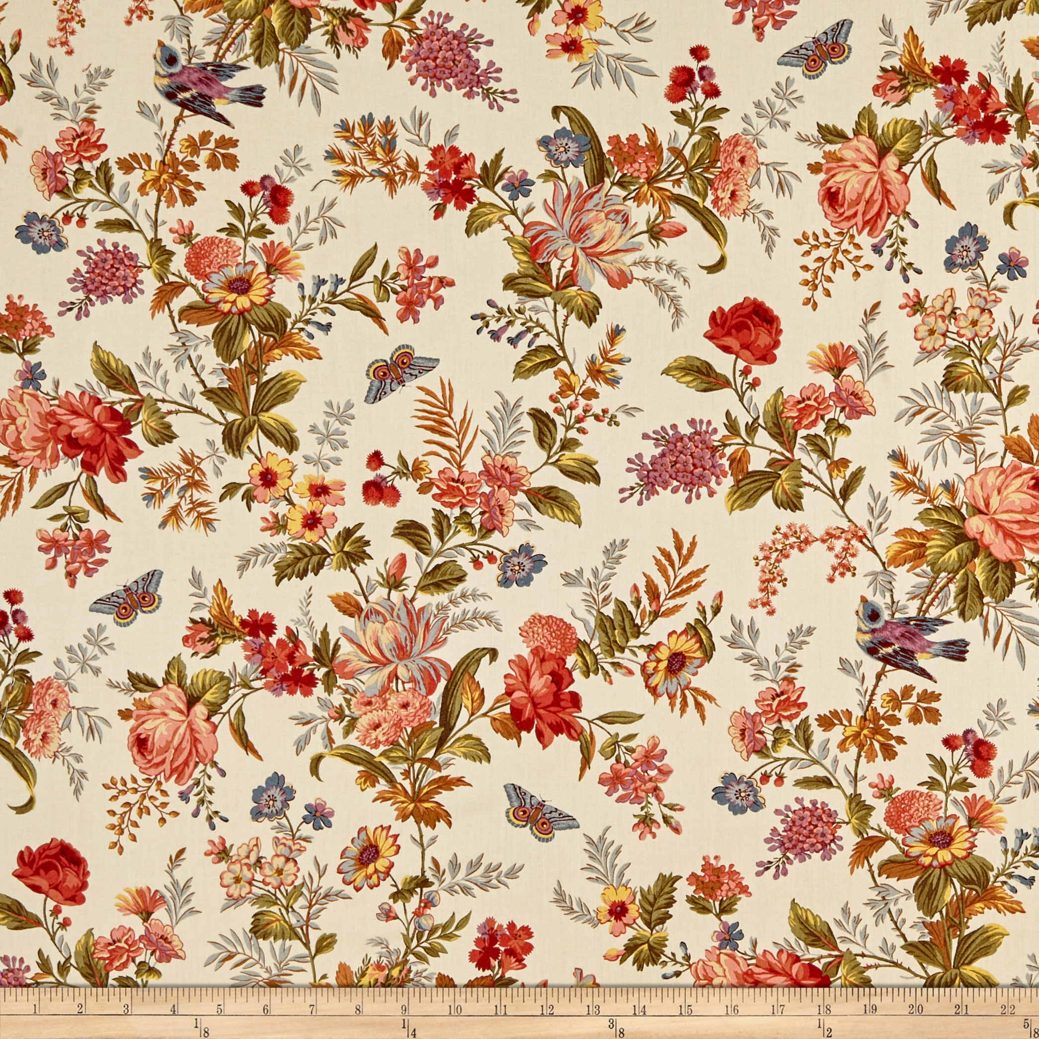 Andover Bed of Roses Bed of Roses Bisque Fabric