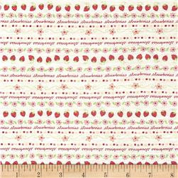Children's Cotton T-Knits Mini Strawberries on Cr?me