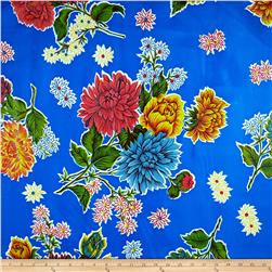 Oil Cloth Mums Blue