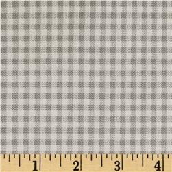 Baby Business Herringbone Check Light Grey