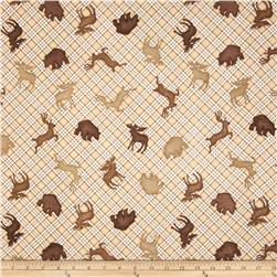 Comfy Flannel Animal Silhouette Plaid Brown