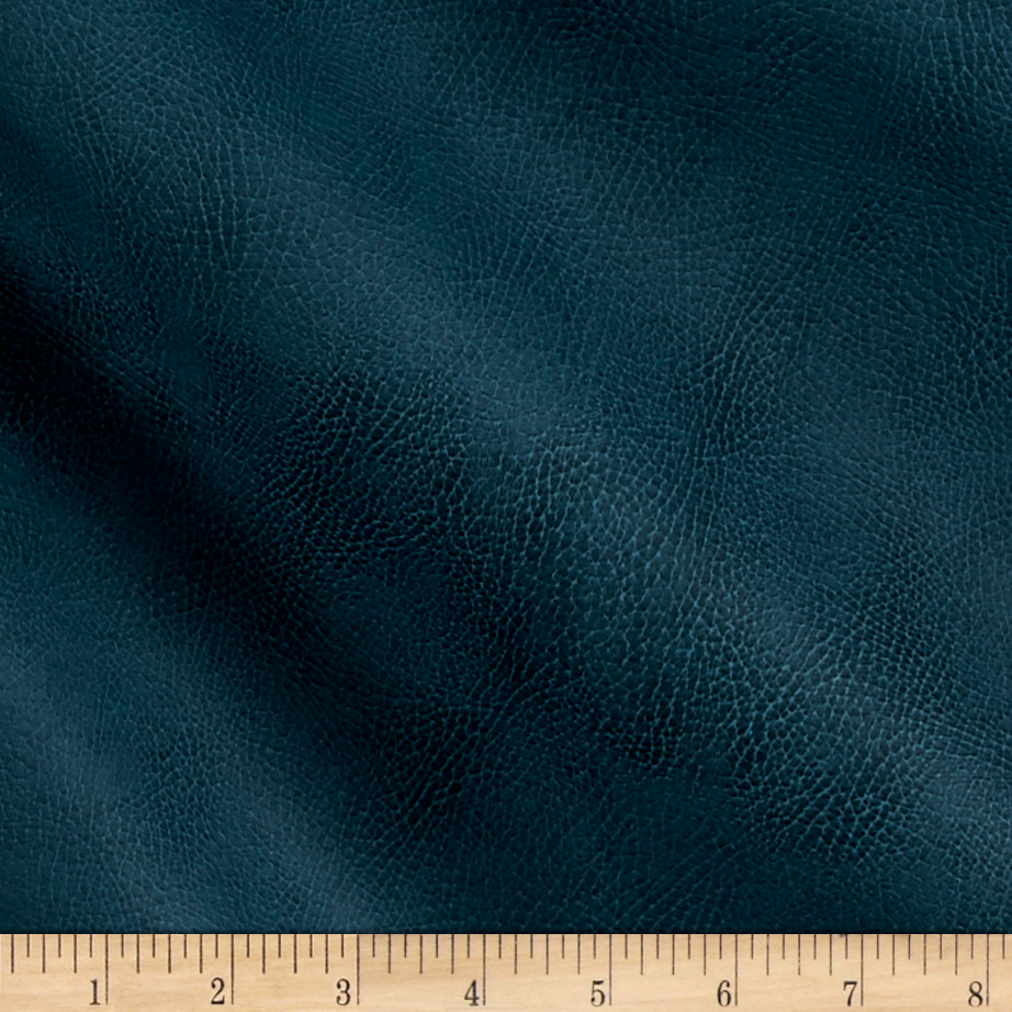 Richloom Tough Faux Leather Tiona Teal Fabric by TNT in USA