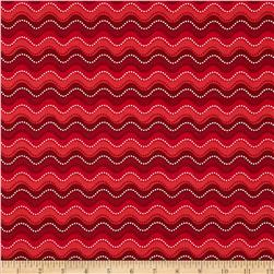 Holly Jollies Wavy Stripe Red