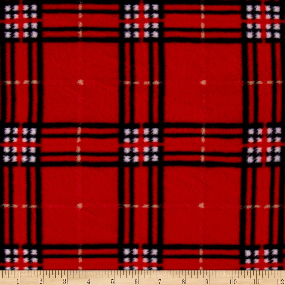 Printed Fleece Christmas Plaid