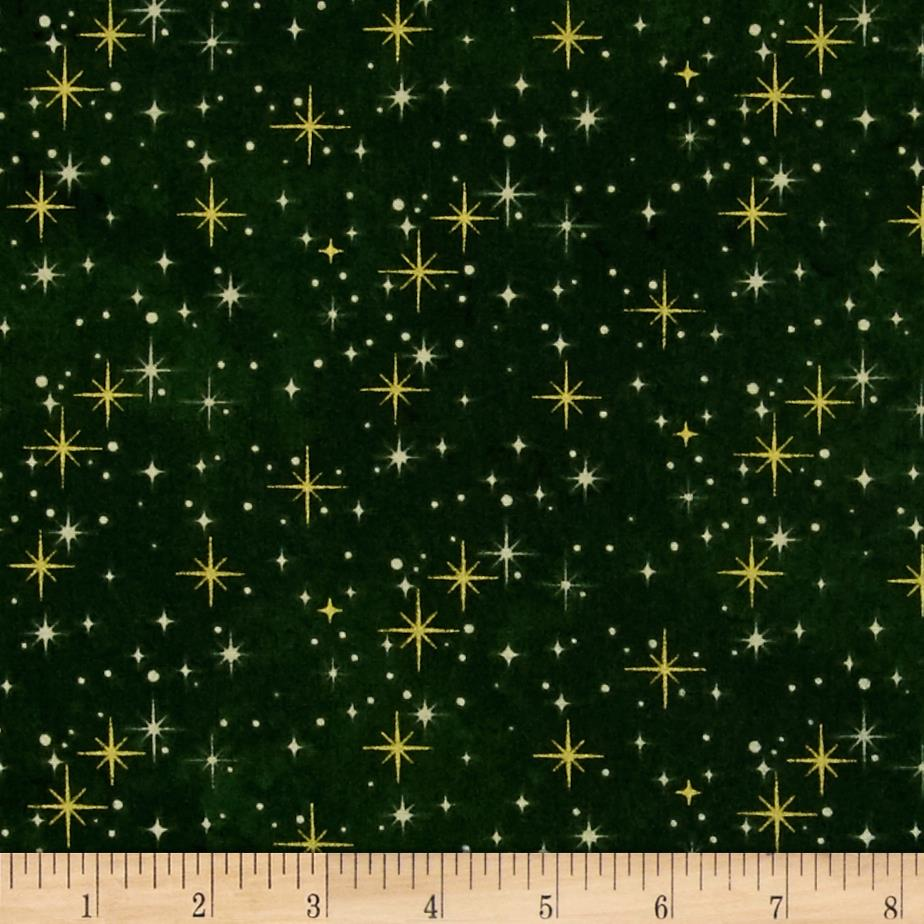 Reindeer Prance Metallic Shimmering Lights Green/Gold