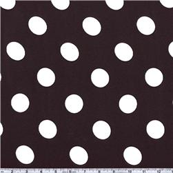 Charmeuse Satin Jumbo Dot Black/White