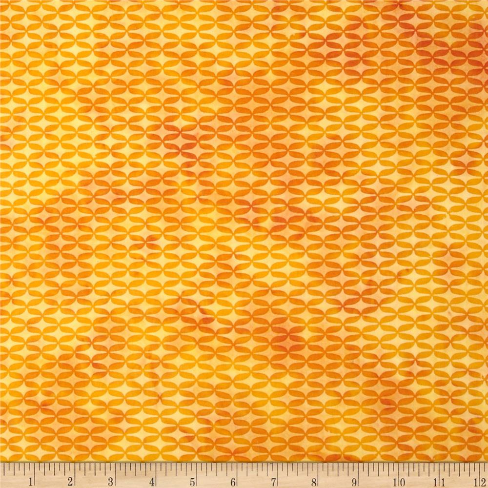 Island Batik Lattice Yellow