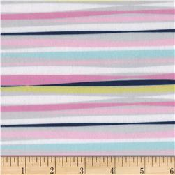 Michael Miller Minky Unicorn Doodle Unicorn Stripe Multi