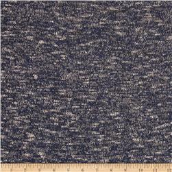 Sweater Knit Marled Navy/Tan