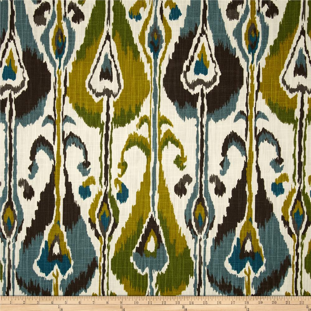 Robert Allen Home Ikat Bands Slub Rain Discount Designer Fabric