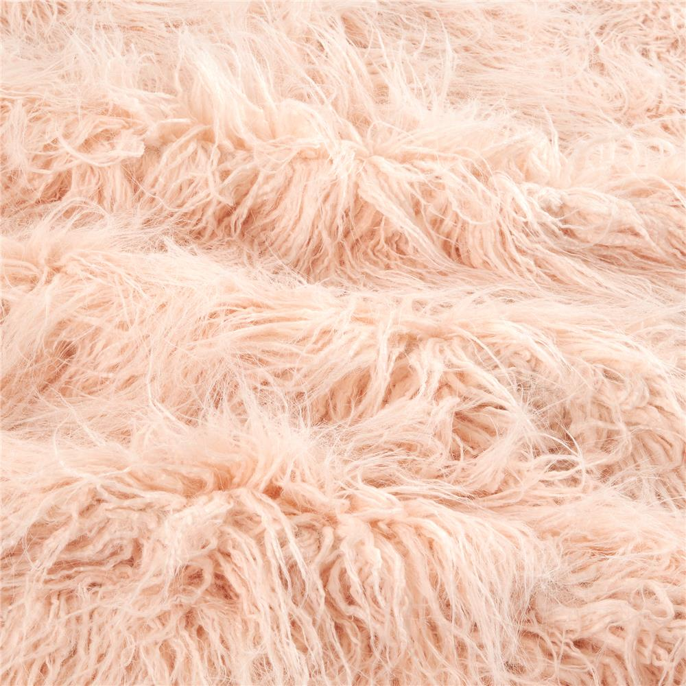 Shannon Luxury Faux Fur Curly Yak Pearl Pink