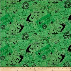 DC Comics Tonal Classic Comics Green Fabric
