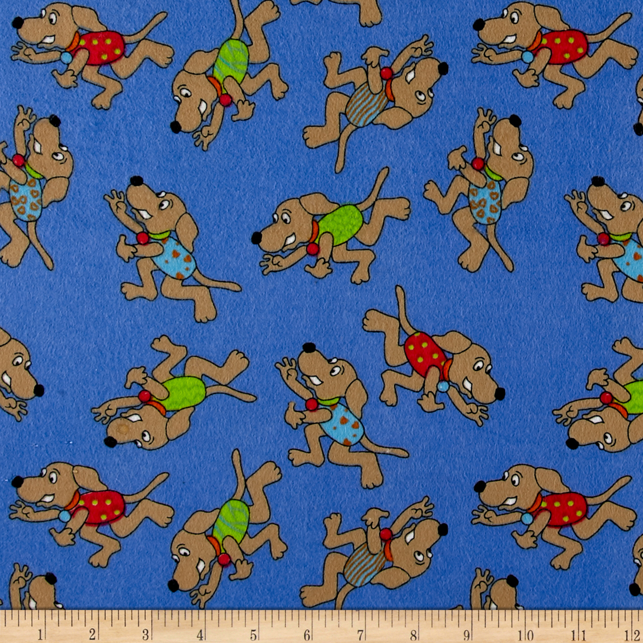 Sparky Flannel Blue Fabric by Newcastle in USA