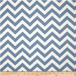 Premier Prints Zig Zag Baby Blue Fabric