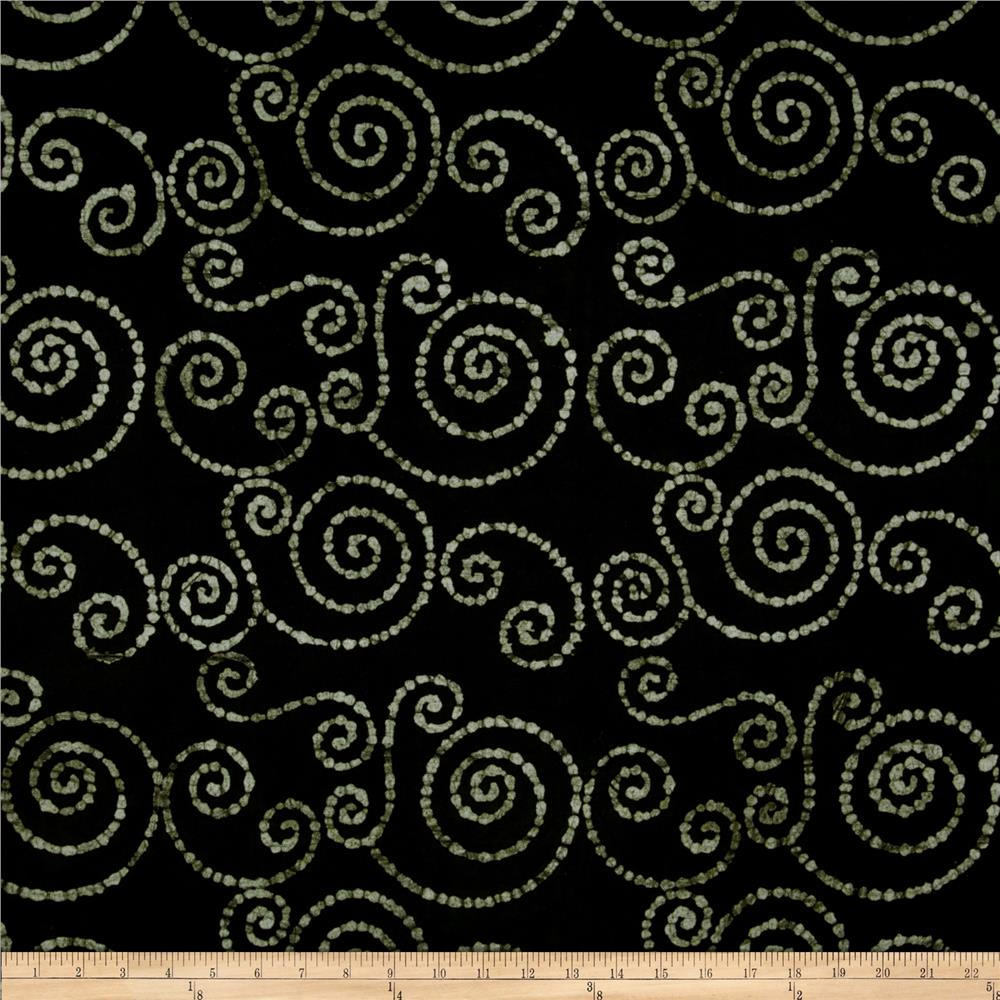 Textile Creations Batik Duck Swirl Black