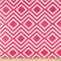 Polar Fleece Print Diamond Tile Pink