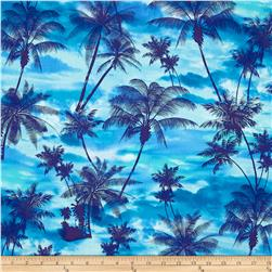 Ocean Avenue Tropical Sunset Blue