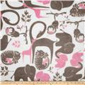 Fleece Zoo Animals Grey/Pink