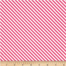 Moda Dot .Dot.Dash-! Diagonal Stripe Pink