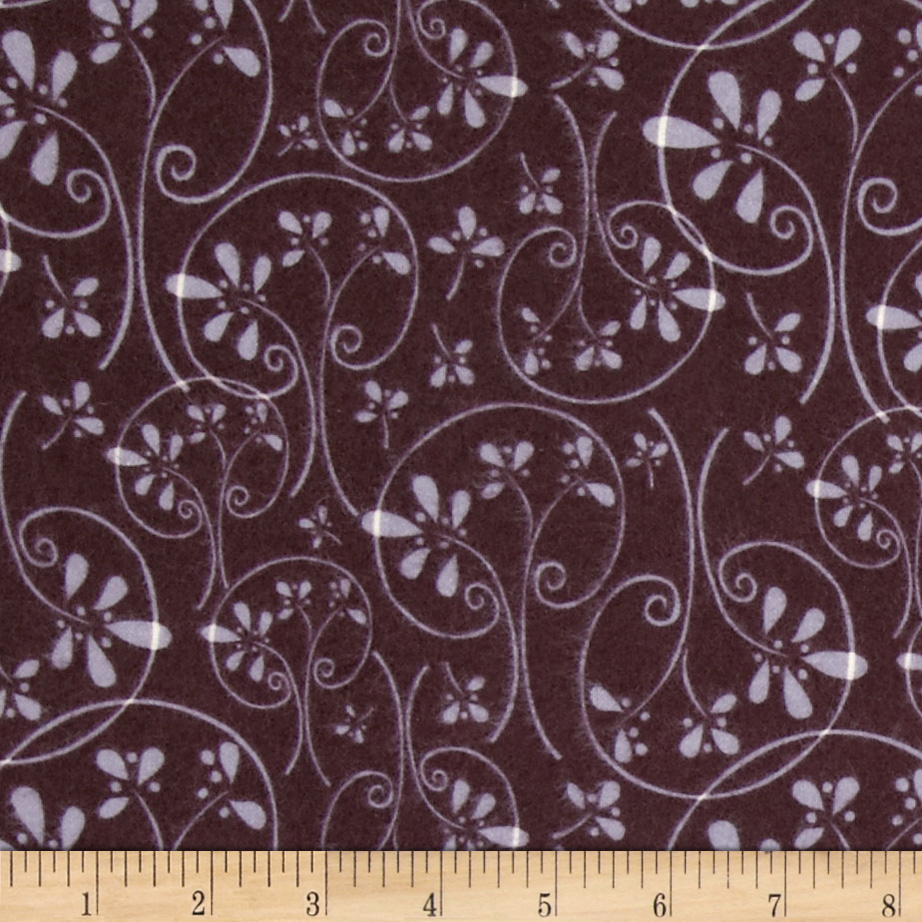 Whoo's Cute Flannel Swirl Tree Brown Fabric