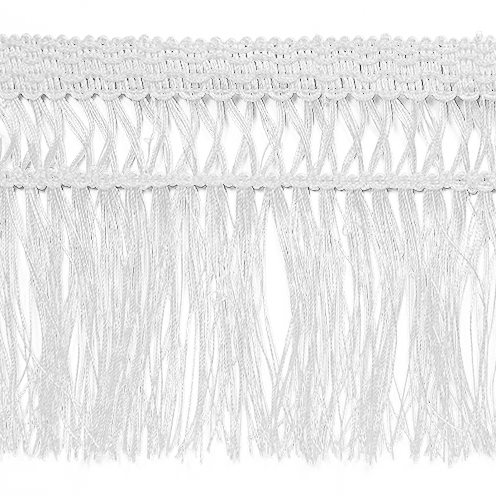 4 1/2'' Maddie Lattice Edge Chainette Fringe White by Expo in USA