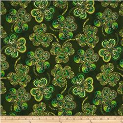 Shamrock Celebration Metallic Large Shamrocks Evergreen