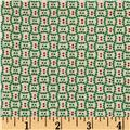 Cozies Flannel Christmas Check Green