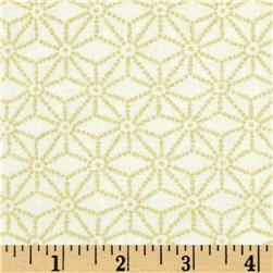 Timeless Treasures Kyoto Blossoms Metallic Geo Cream