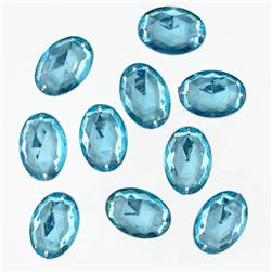 Favorite Findings Sew-on Gems Ovals Turquoise