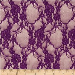 Stretch Lace Light Plum Fabric