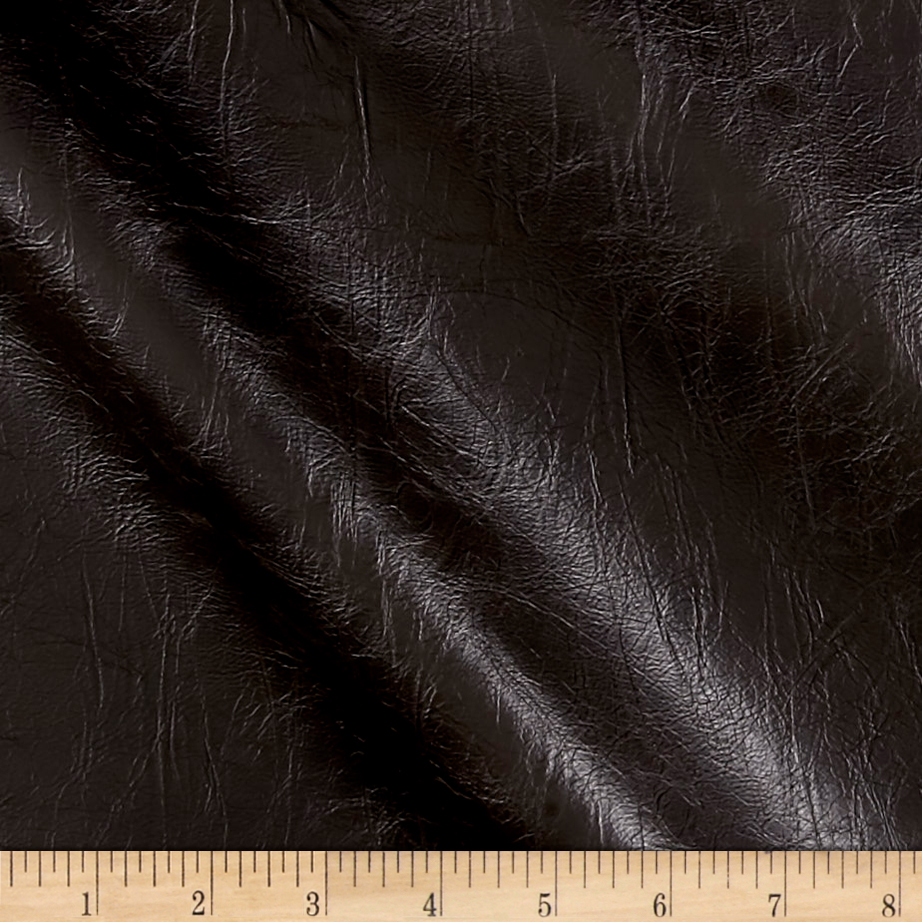 Richloom Tough Faux Leather Bixby Chestnut Fabric by TNT in USA