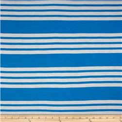 Modal Rayon Baby Jersey Stripe Turquoise