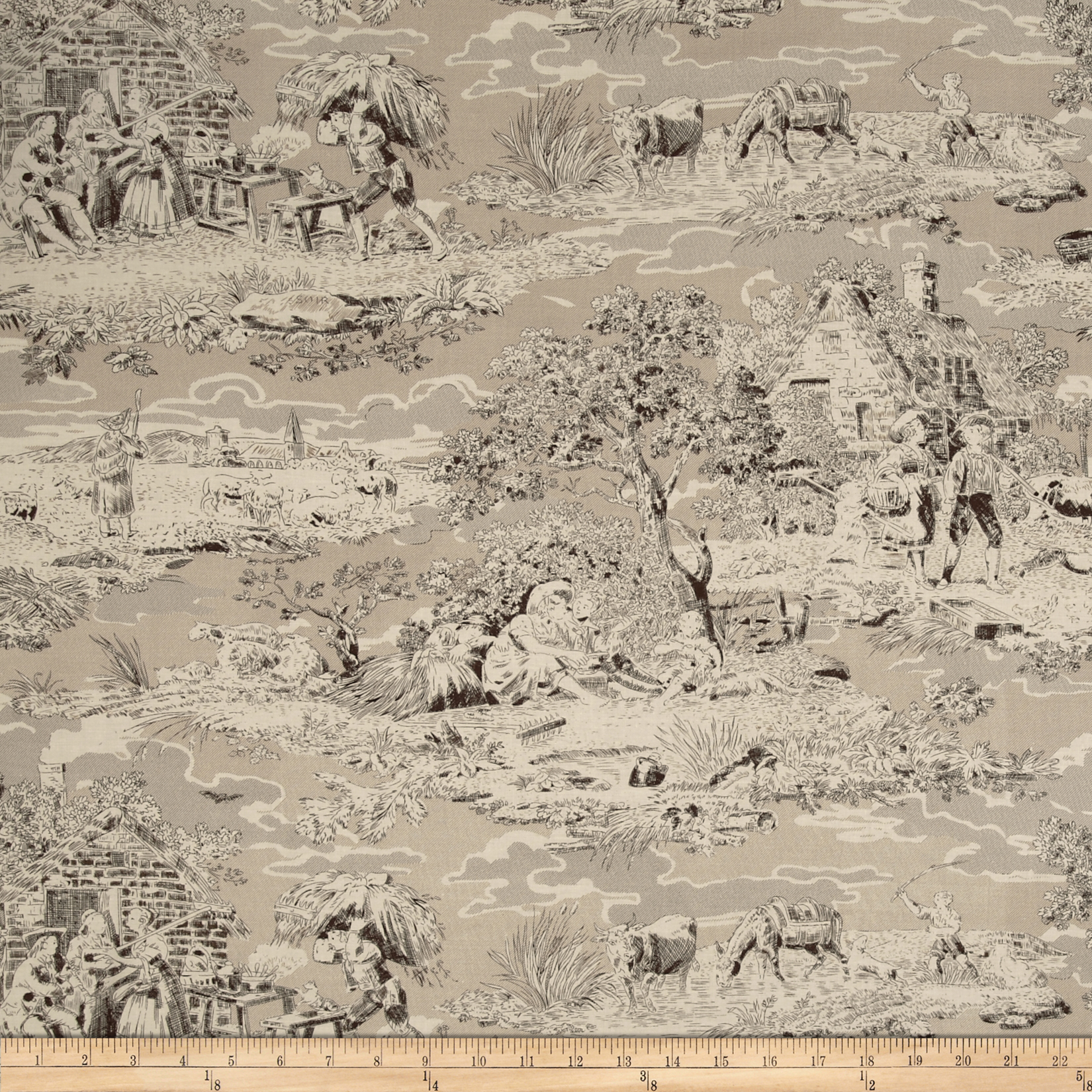 Bread & Butter Pastoral Toile Cream Fabric