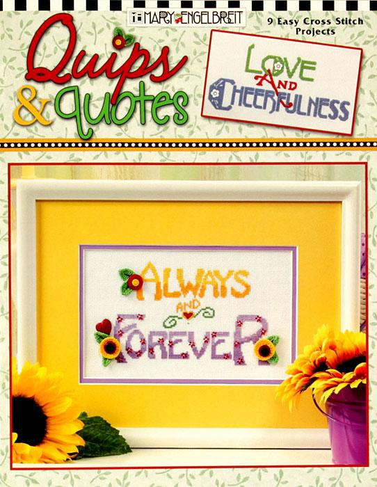Leisure Arts Mary Engelbreit ''Quips & Quotes'' Cross Stitch Book