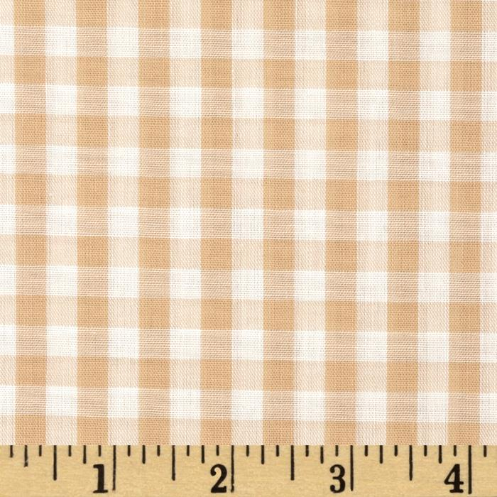 Gingham 1/4 In. Checks Galore Beige