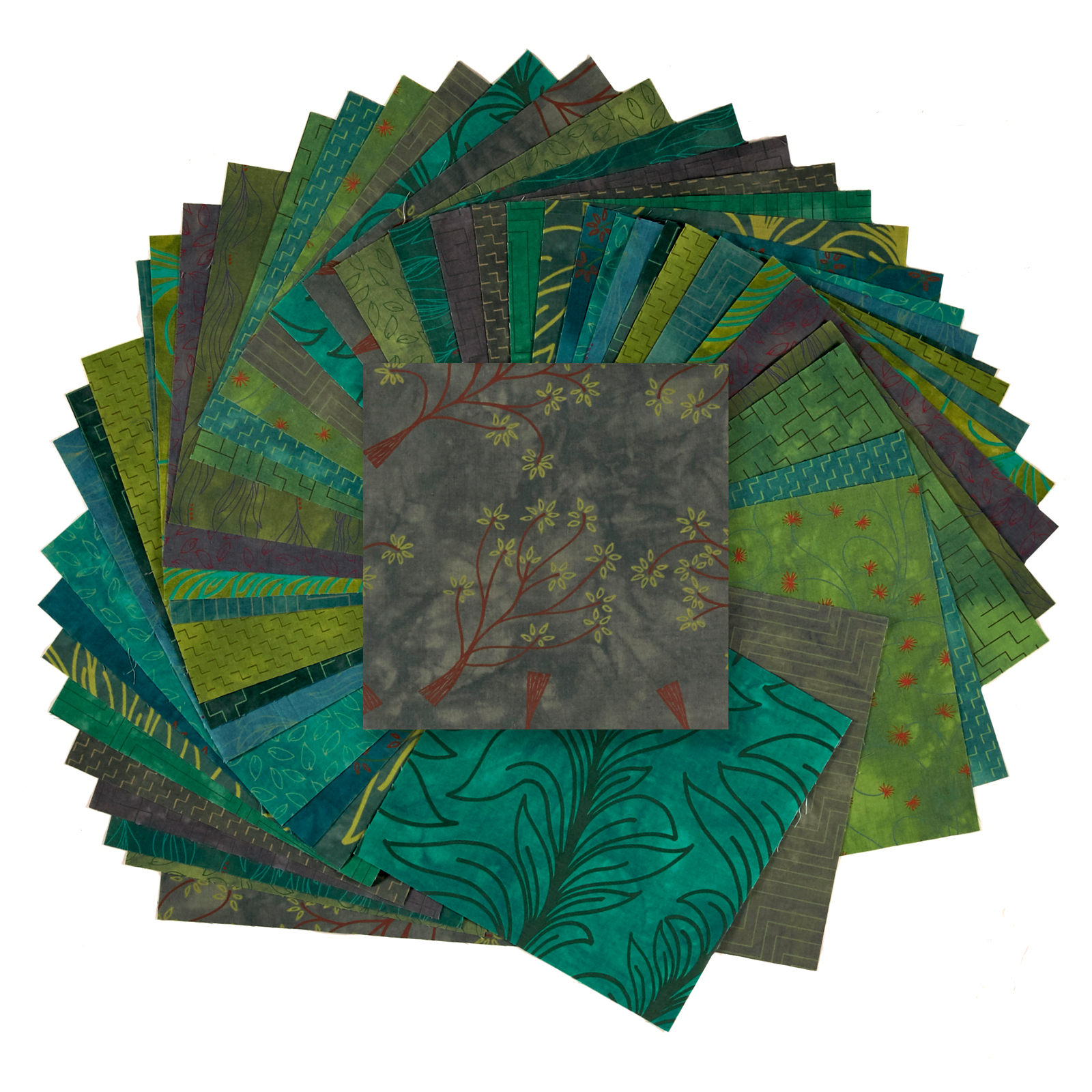 INOpets.com Anything for Pets Parents & Their Pets Fabric.com Rainforest 10'' Square Precut Multi - Exclusive