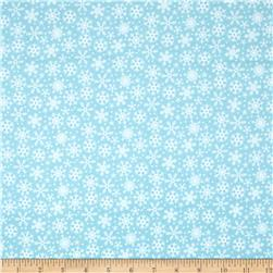 Riley Blake Santa Express Flannel Snowflake Blue