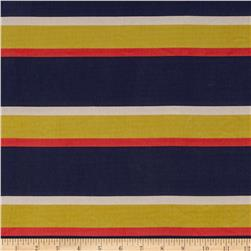Boutique Peachskin Stripes Navy