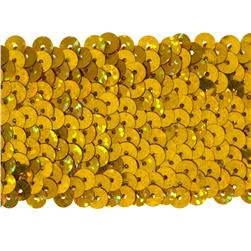 1 3/4'' Hologram Stretch Sequin Trim Gold
