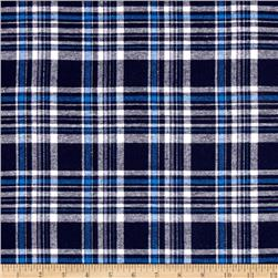 Yarn Dyed Flannel Plaid Navy