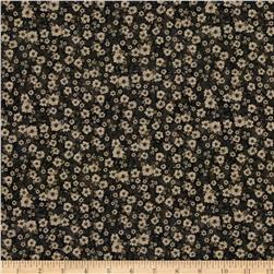 Mia Country Flock Digital Print Floral Texture Black