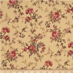 Vintage Floral Red/Antique