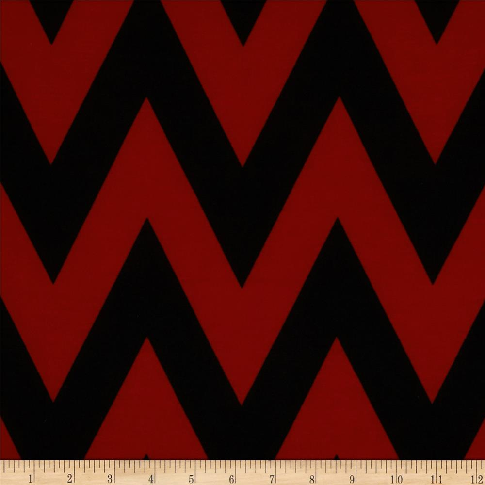 Fashionista Jersey Knit Medium Chevron Brick/Black